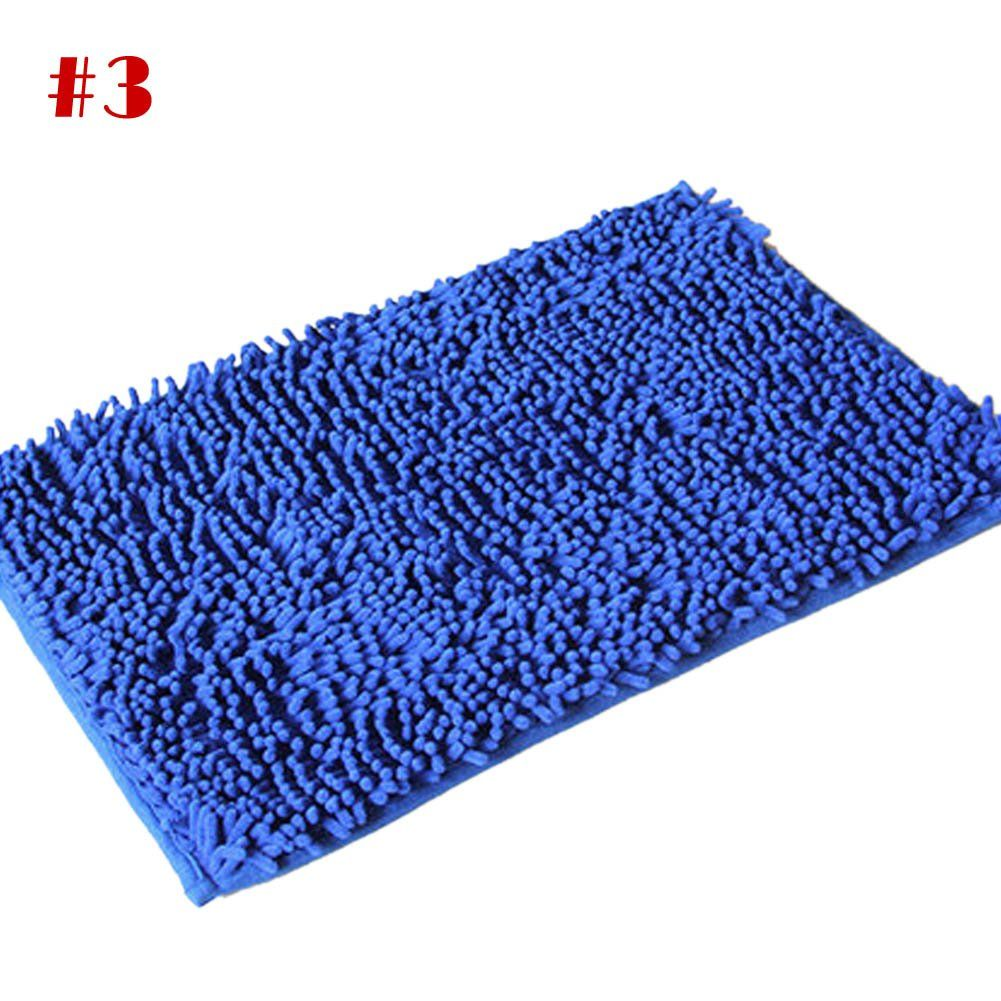 SQ Soft Shaggy Non Slip Absorbent Bath Mat Bathroom Shower Carpet ...