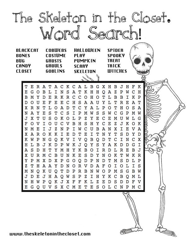 Hot Cross Bones - A Halloween Word Search | Halloween word ...
