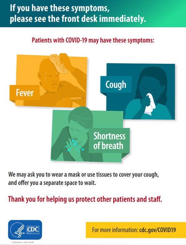 Print Resources CDC in 2020 Information poster, Cdc