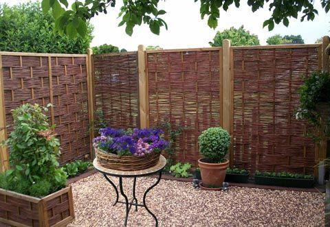 Sichtschutzzäune, Sichtschutzwände, Gartenmöbel