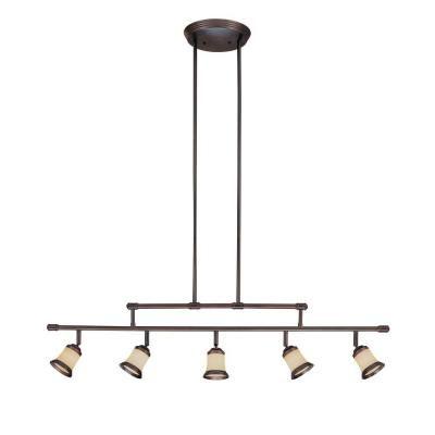 H&ton Bay 5-Light Antique Bronze Adjustable Height Track Lighting Fixture with Multi-Directional Spotlights  sc 1 st  Pinterest & Hampton Bay 5-Light Antique Bronze Adjustable Height Track Lighting ...