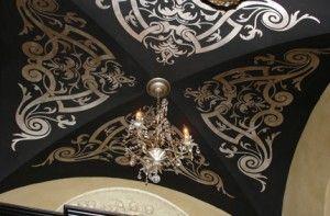 stencils-modello-groin ceiling - Paint + Pattern