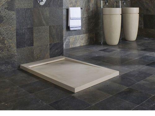 Receveur de douche rectangulaire / en pierre naturelle ESSENCE