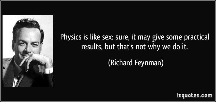 Feynman physics sex