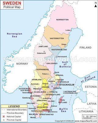 vase varmland county sweden Political Map of Sweden ancestry