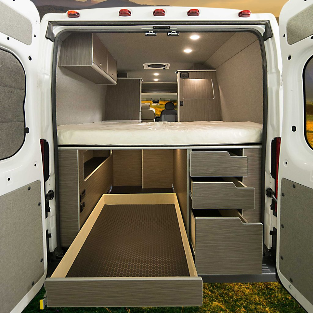 2018 Ram Promaster 136 High Roof Euro Wilderness Vans In 2020 Van Conversion Floor Plans Van Life Diy Van Conversion Interior