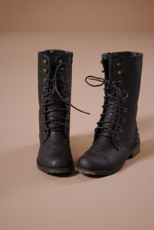 Hey There Stud Combat Boots