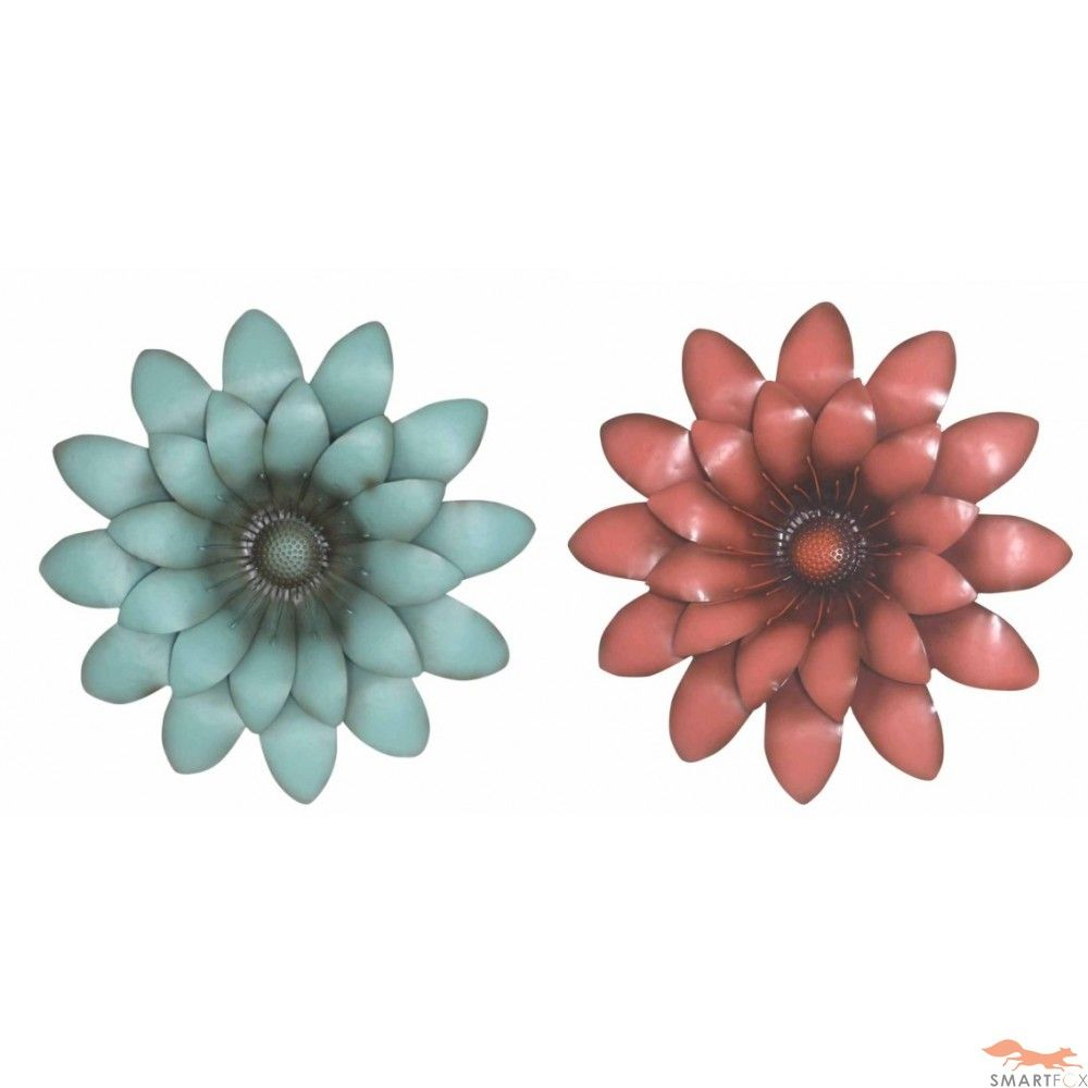 Metal Wall Art Flowers metallic wall flowers | metal wall art - flower ( clearance