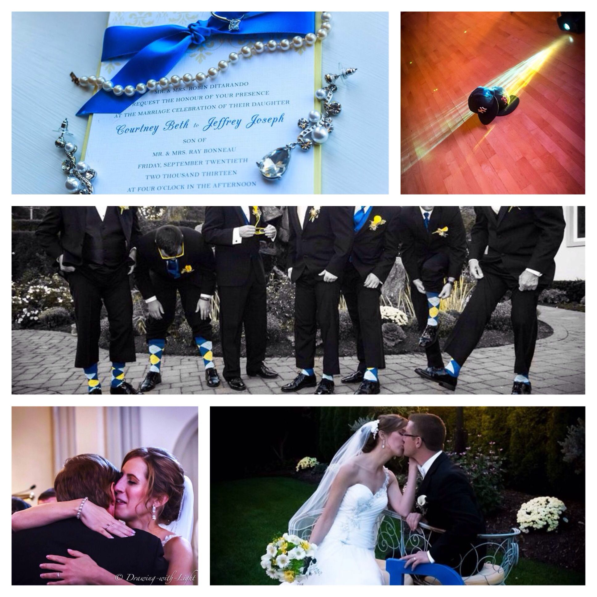 Fall Wedding Yellow Amp Blue