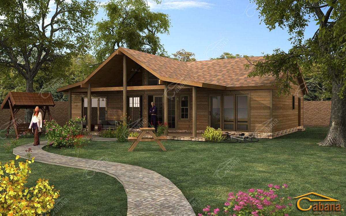 Tipo caba a casas madera pinterest casas de campo y for Casas de campo prefabricadas