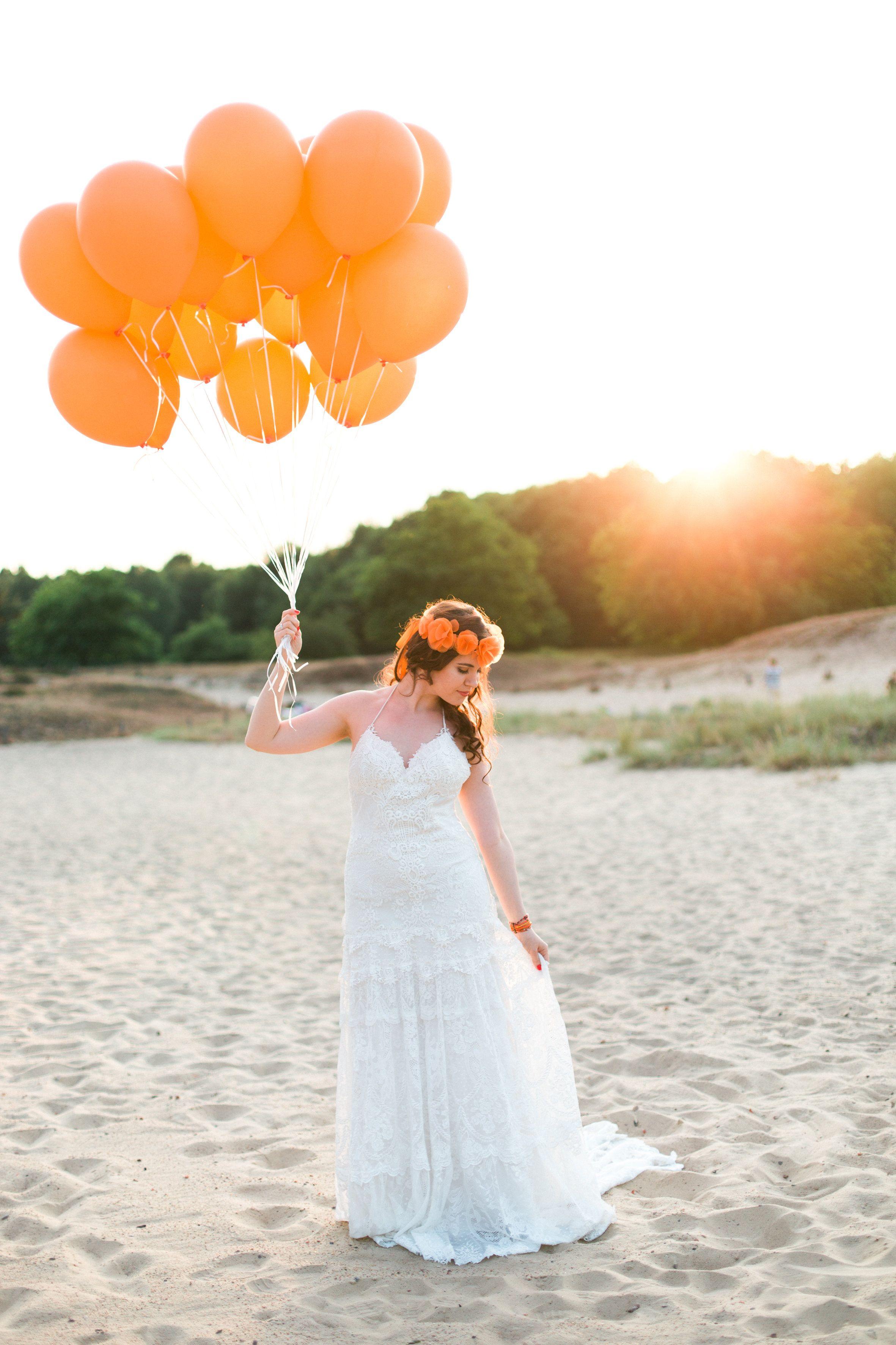Blütenhaarkranz für eine Hochzeit in Orange | www.schoenmich-ac ...
