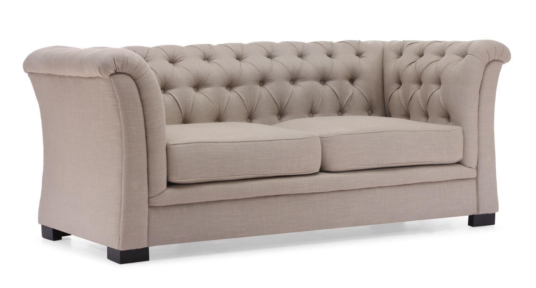 Zuo Modern Nob Hill Sofa Nob Hill Hardwood Chesterfield Sofa Beige Furniture Seating Sofas