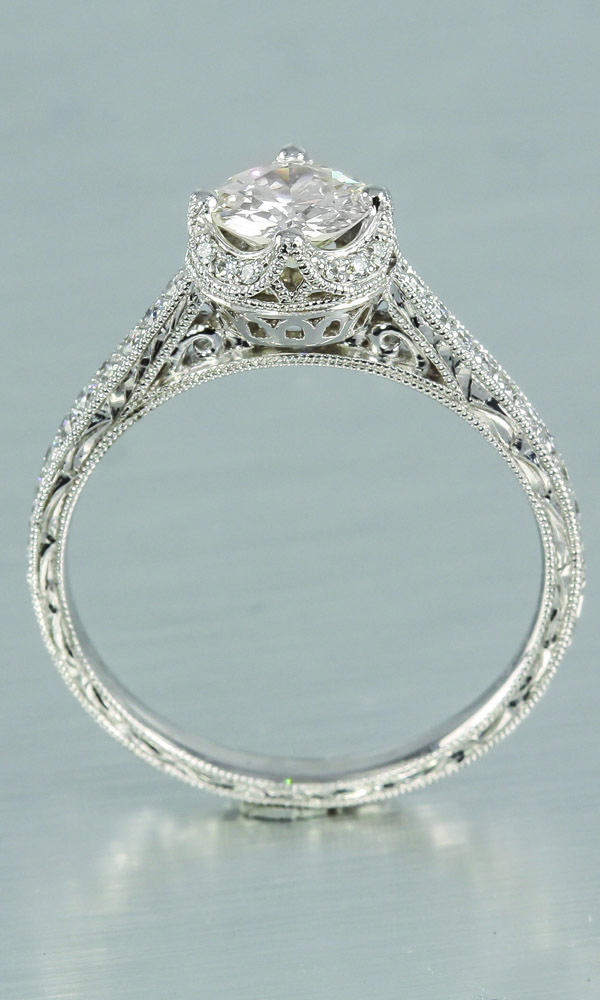 Delicate Antique Style Engagement Ring