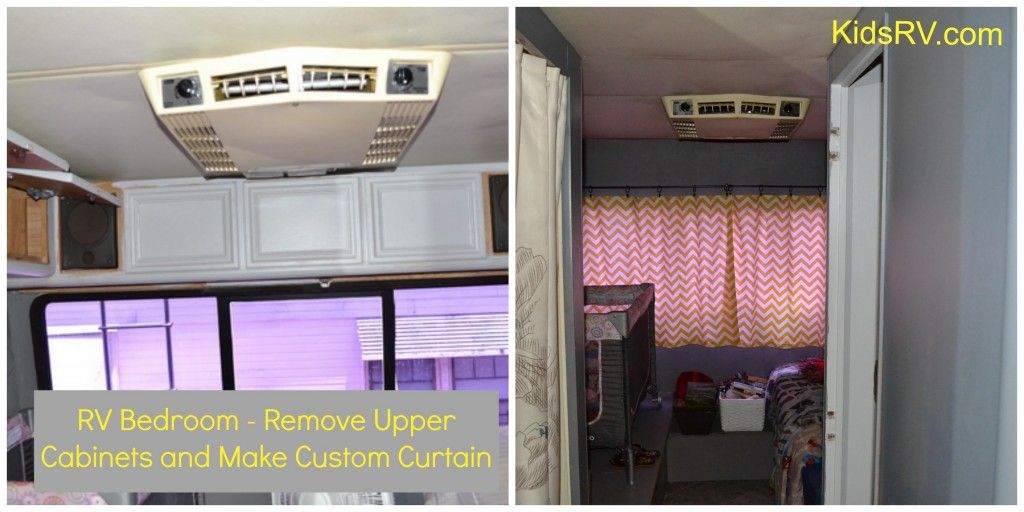 Before/After RV Bedroom. Remove upper cabinets and add a custom ...