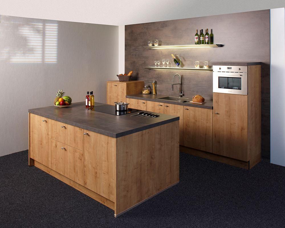 Keukendeal 60 nolte chalet keuken met kookeiland geheel compleet inclusief montage - Moderne chalet keuken ...