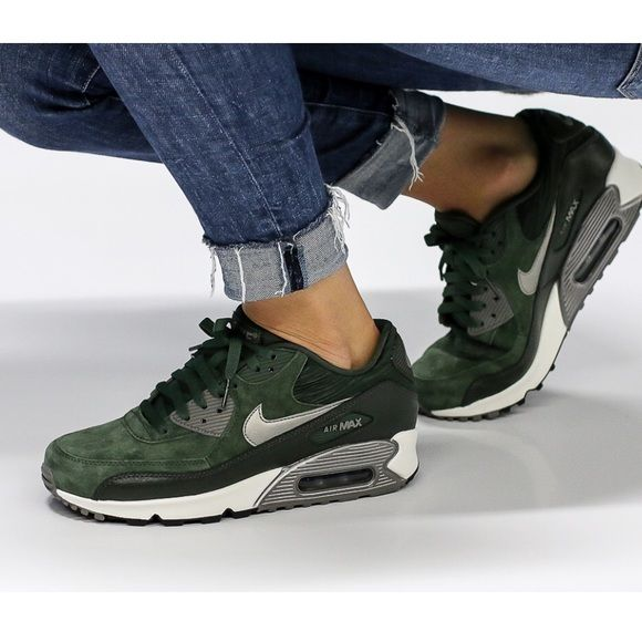 nike air max 90 leather green