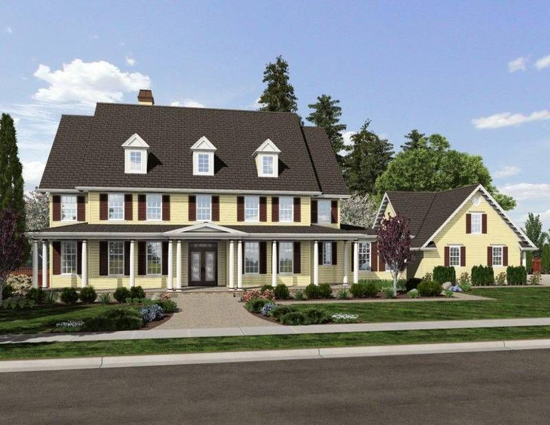 Front Rendering of Mascord Plan 2418A - The Garnell  It would have to be a different color, but I love it overall!