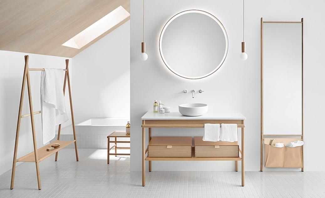 holz im bad wachplatz badezimmerkollektion mya aus eichenholz badezimmer pinterest. Black Bedroom Furniture Sets. Home Design Ideas