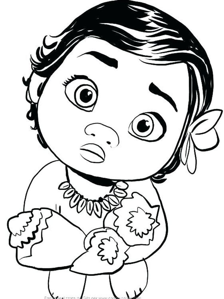 Printable New Baby Coloring Pages Pdf Below Is A Collection Of Cute Baby Coloring Page That You Baby Coloring Pages Disney Coloring Pages Moana Coloring Pages