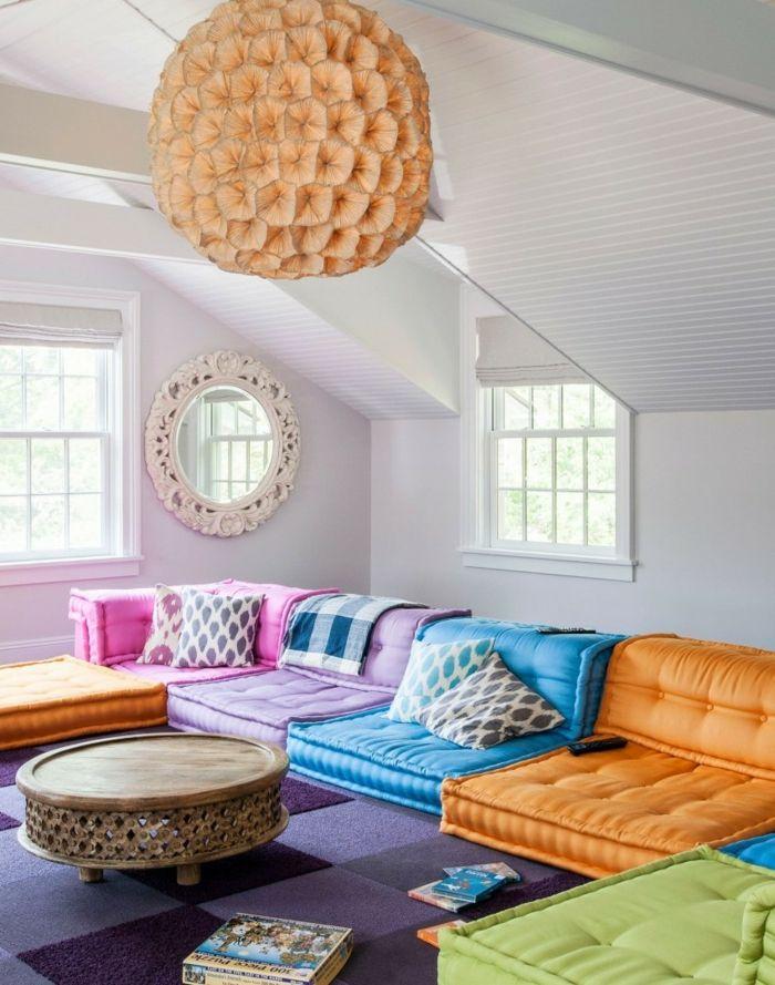 wohntrends pendelleuchte farbige möbel wohnzimmer Fab - möbel wohnzimmer modern