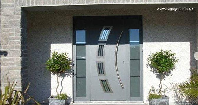 Puertas residenciales de aluminio   ARQUITECTURA de CASAS