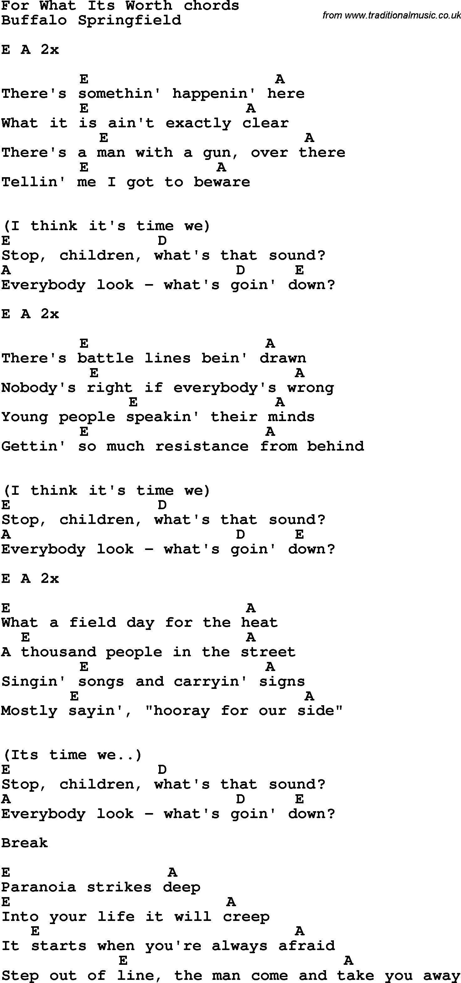 Song lyrics with guitar chords for for what its worth music song lyrics with guitar chords for for what its worth hexwebz Image collections