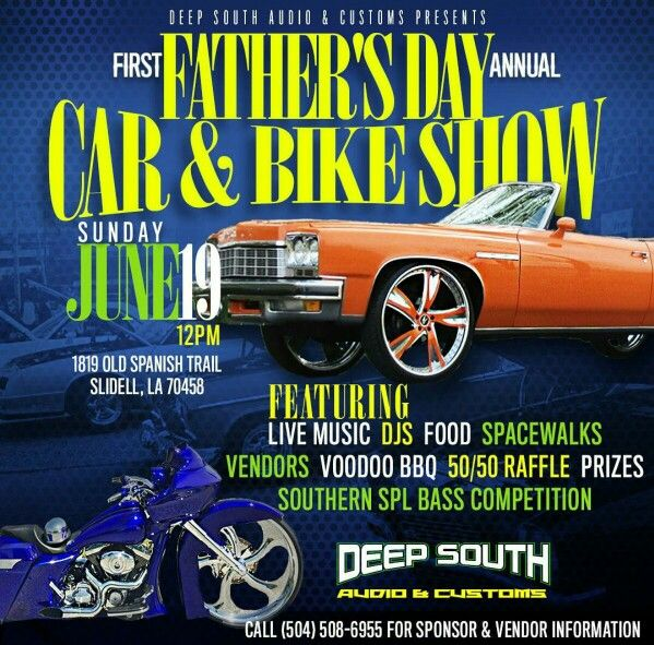 Fathers Day Car And Bike Show CruiseIn Car Show Flyers - Car show vendor ideas