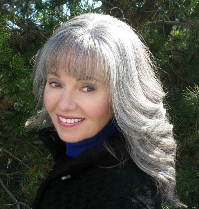 women with long grey hair beautiful