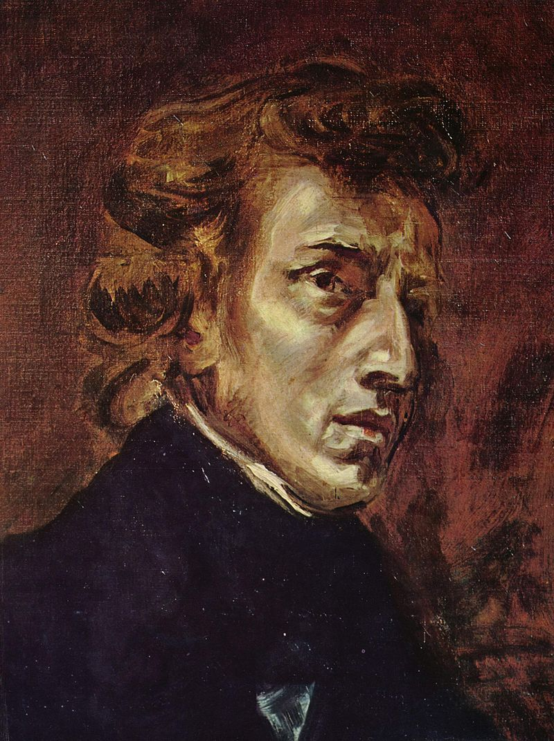 Portrait de Frédéric Chopin Eugène Delacroix @ Louvre, Paris