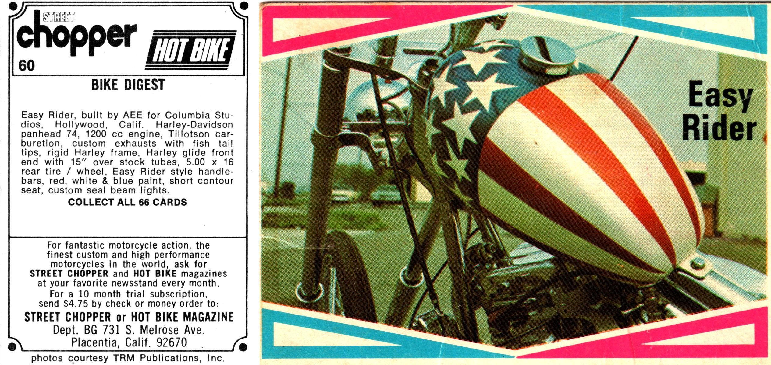 Card 60 With Images Easy Rider Hot Bikes Harley Davidson