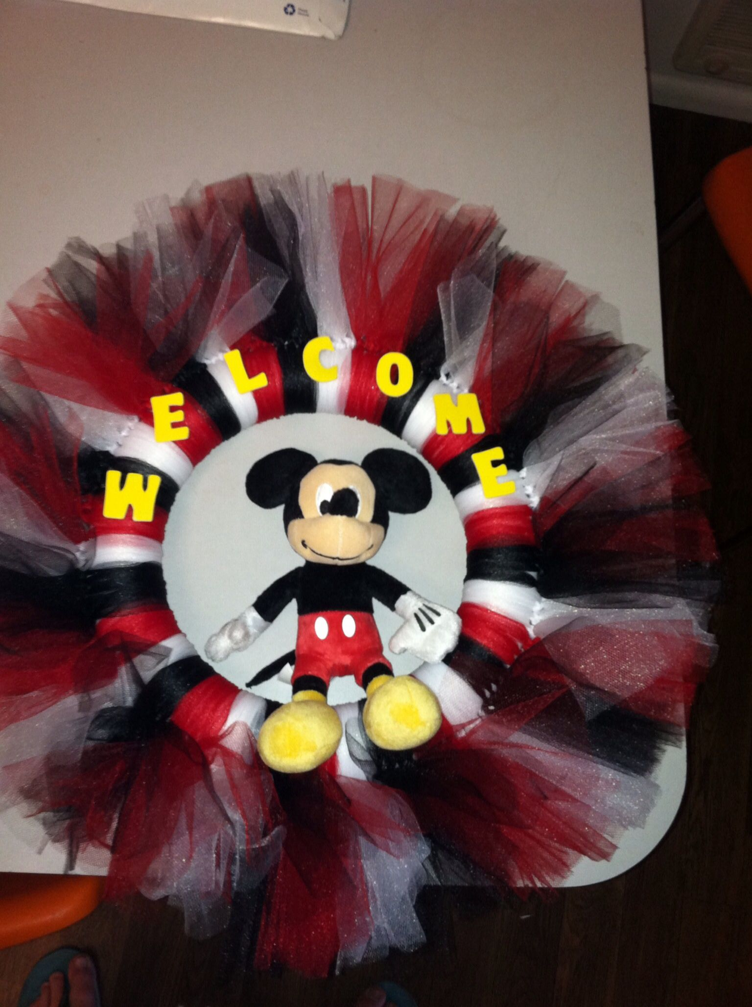 The Mickey Mouse Themed Wreath I Made I Love It