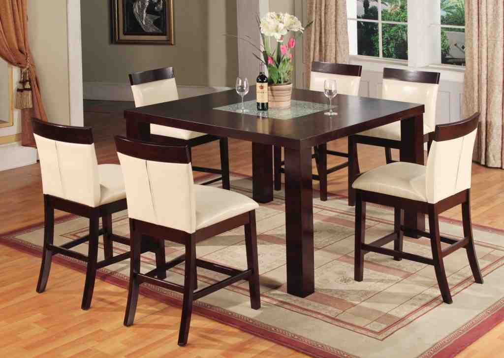 bar height kitchen table and chairs  dining room table