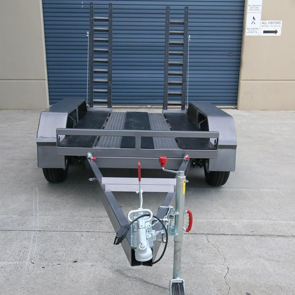 Alltrades All-Tow 2000R 2-Tonne Roller Plant Trailer - 1.61t Capacity, Galvanised