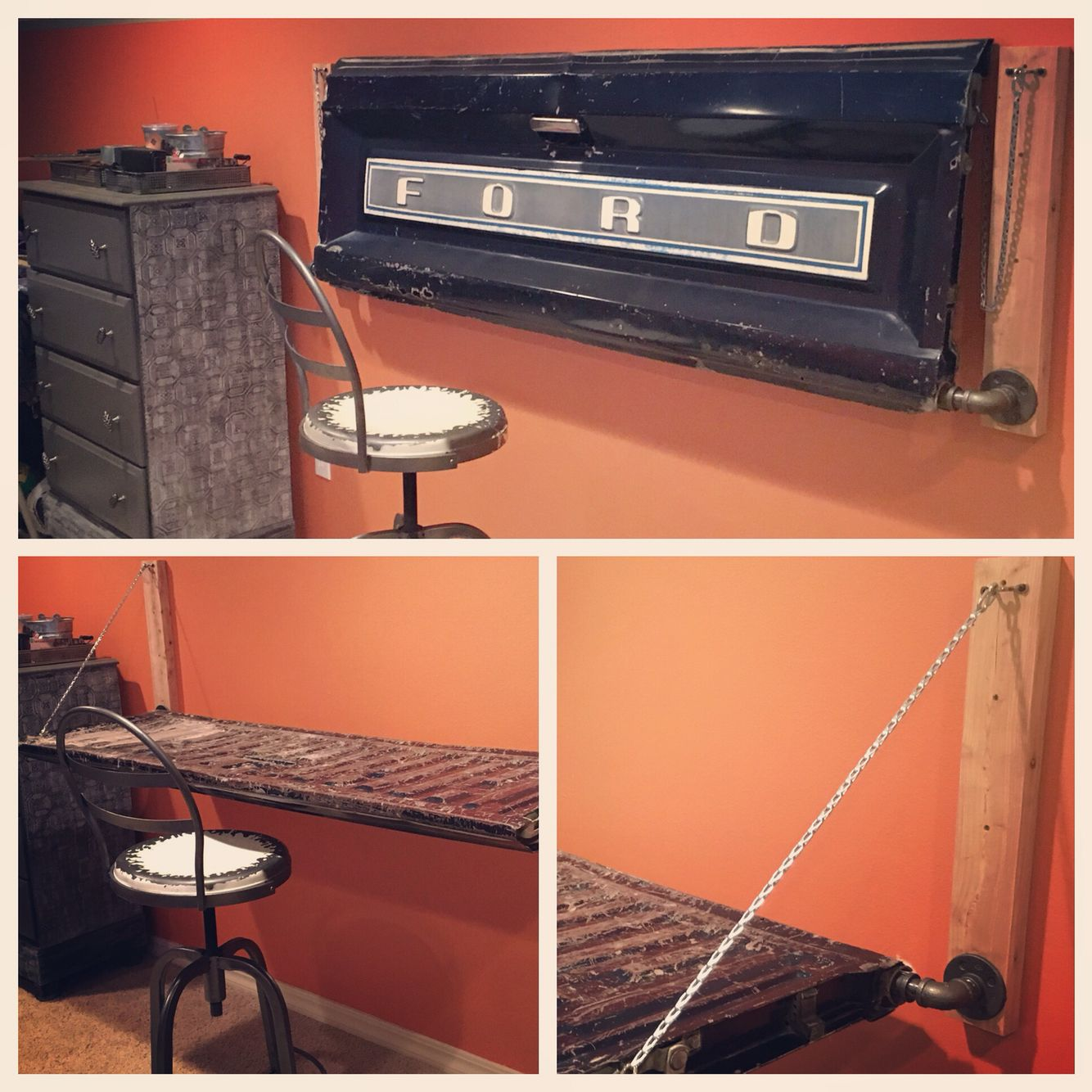 Murphy desk made from the Tailgate of a Ford truck. Almost ...