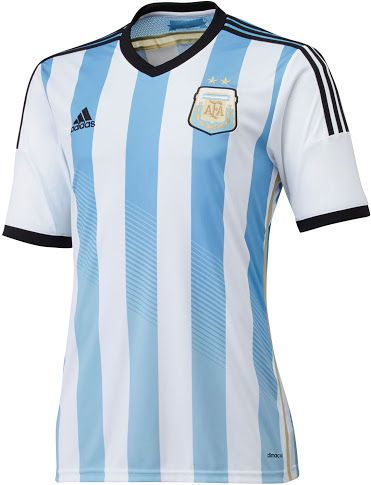 7d461f500 Argentina 2014 World Cup Home Kit Released + Away Kit Leaked! - Footy  Headlines