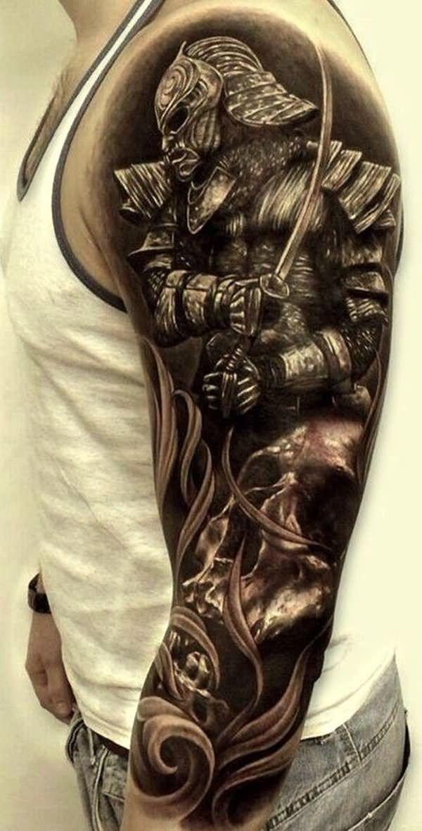Samurai Warrior Tattoo On Left Sleeve | Jiu Jitsu ...