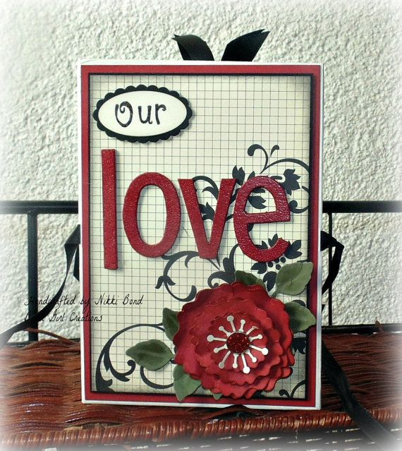 Chipboard Accordion Style Scrapbook Love Themed Scrapbook Album
