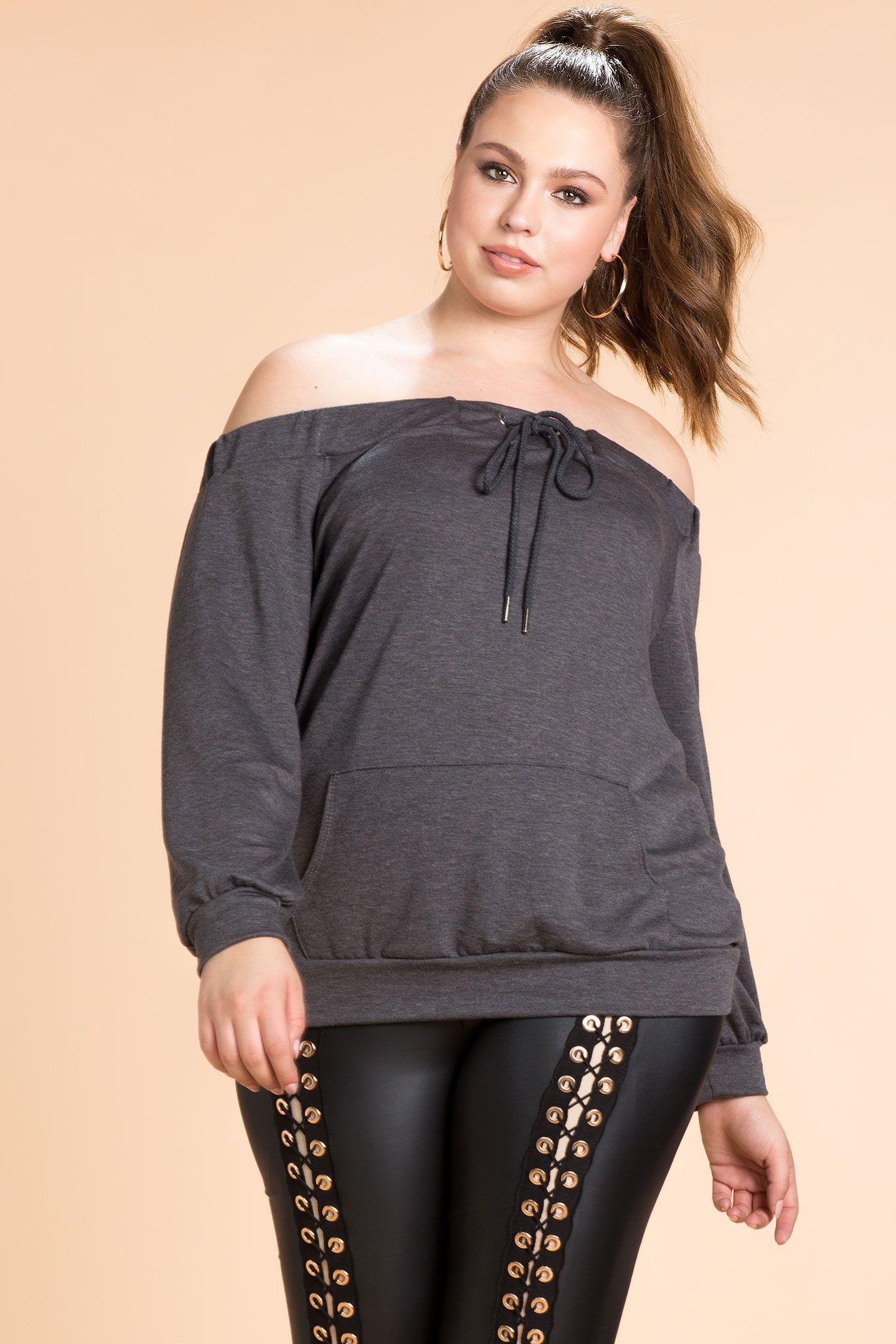 cba59e79fdbac Women s Plus Size Sweatshirts