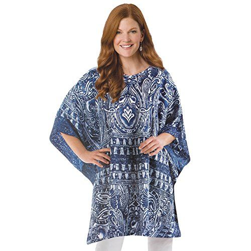 Womens Caftan Lounge Tunic Top Navy Onesize Machine Washable >>> You can find more details by visiting the image link.