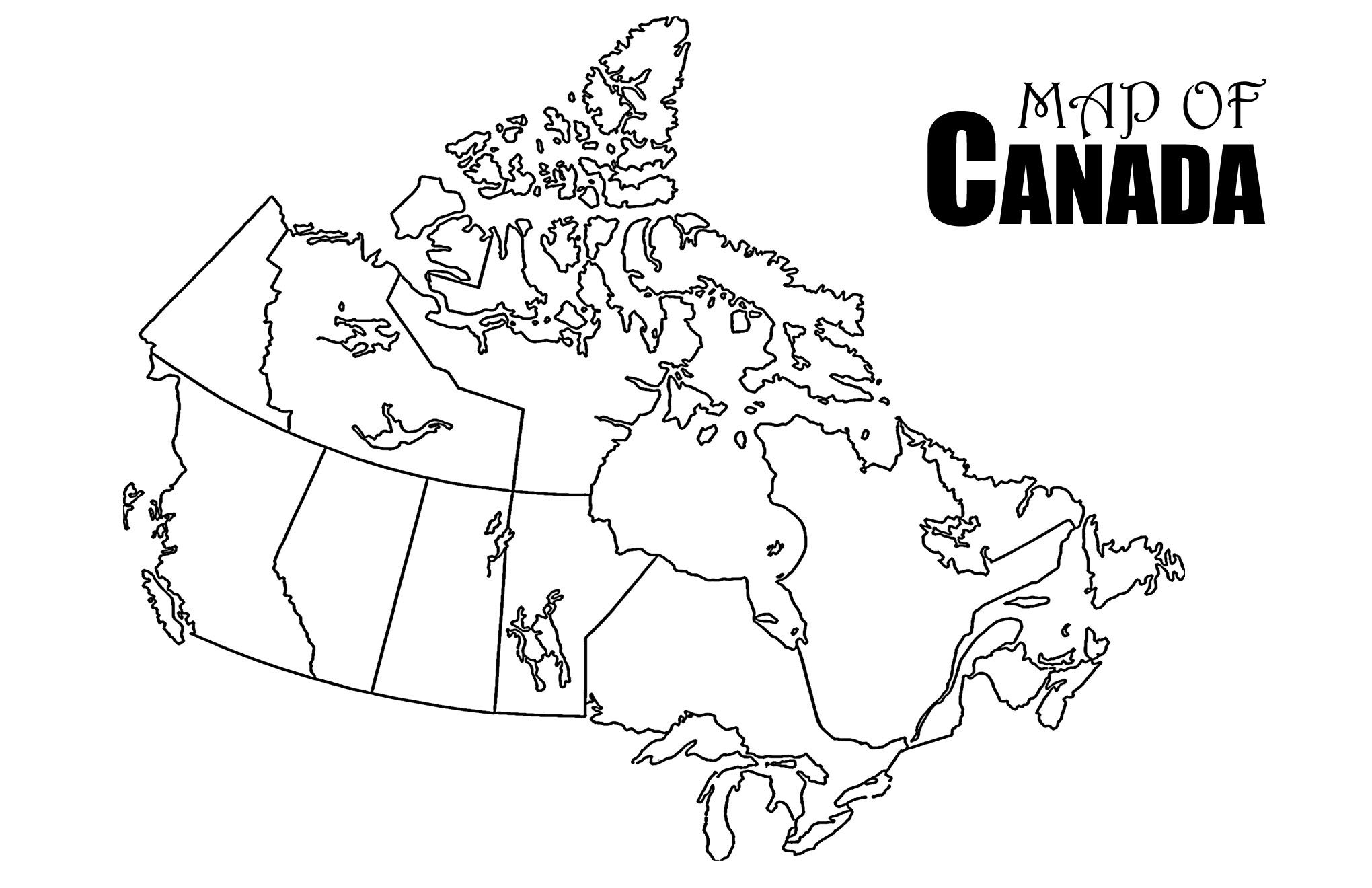 Revolutionary Printable Canada Map Strange Of Provinces And