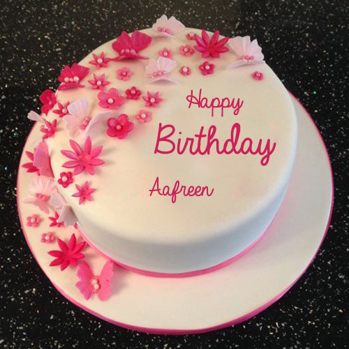 Excellent Happy Birthday Flower And Butterfly Cake With Your Name With Funny Birthday Cards Online Sheoxdamsfinfo