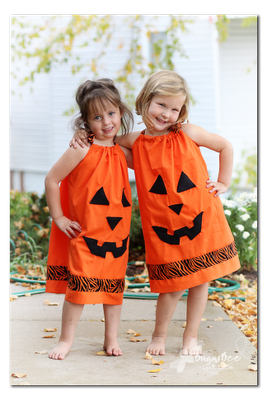 DIY- Pillowcase Pumpkin Dress