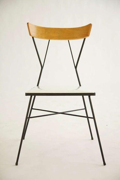 Beautiful Wrought Iron + Wood Chair   Paul Mccobb   Arbuck   Ca 1935
