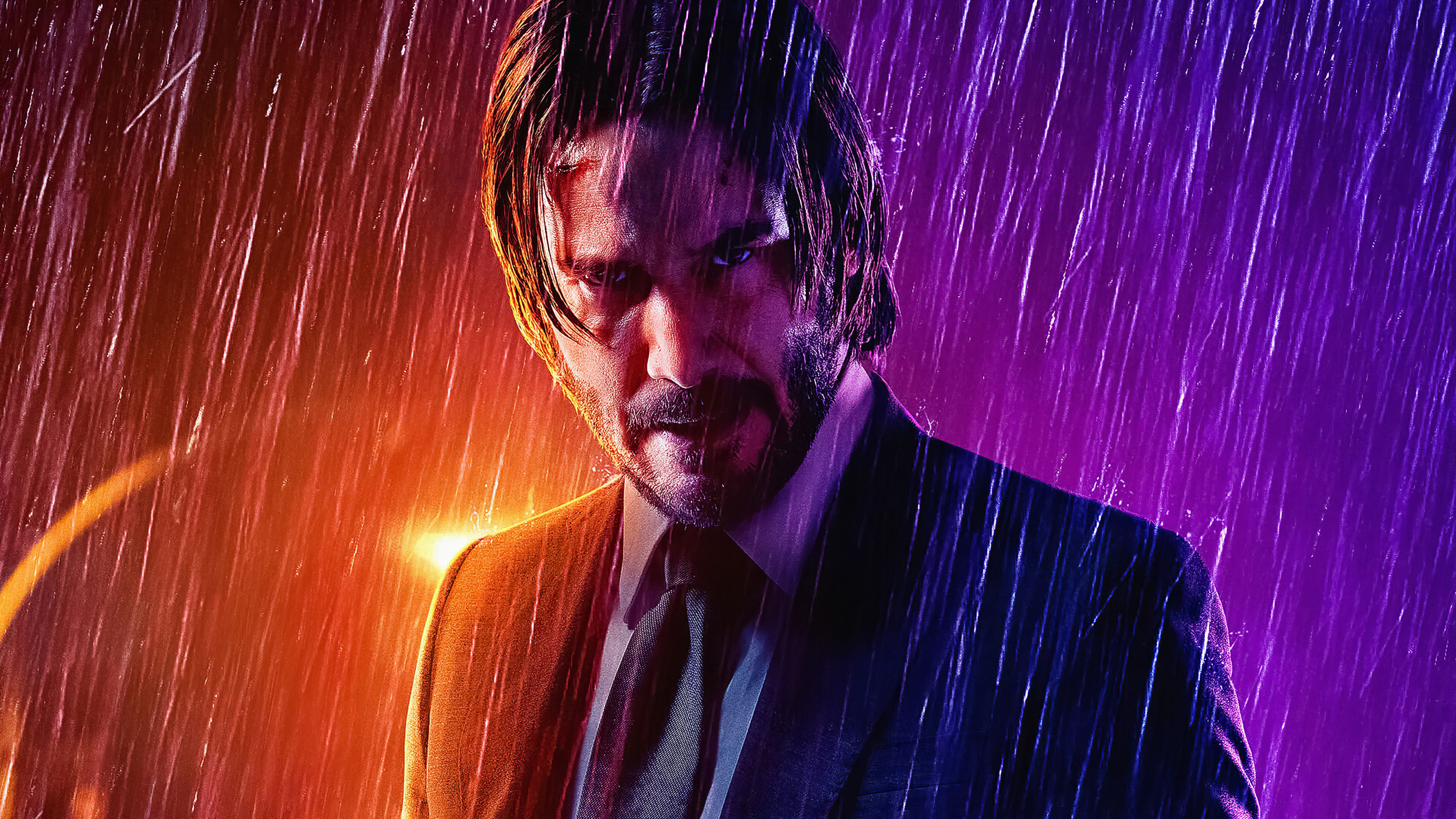 John Wick In Rain John Wick In Rain Wallpaper 4k John Wick In Rain 4k Wallpaper Keanu Reeves Chapter 3 Movies