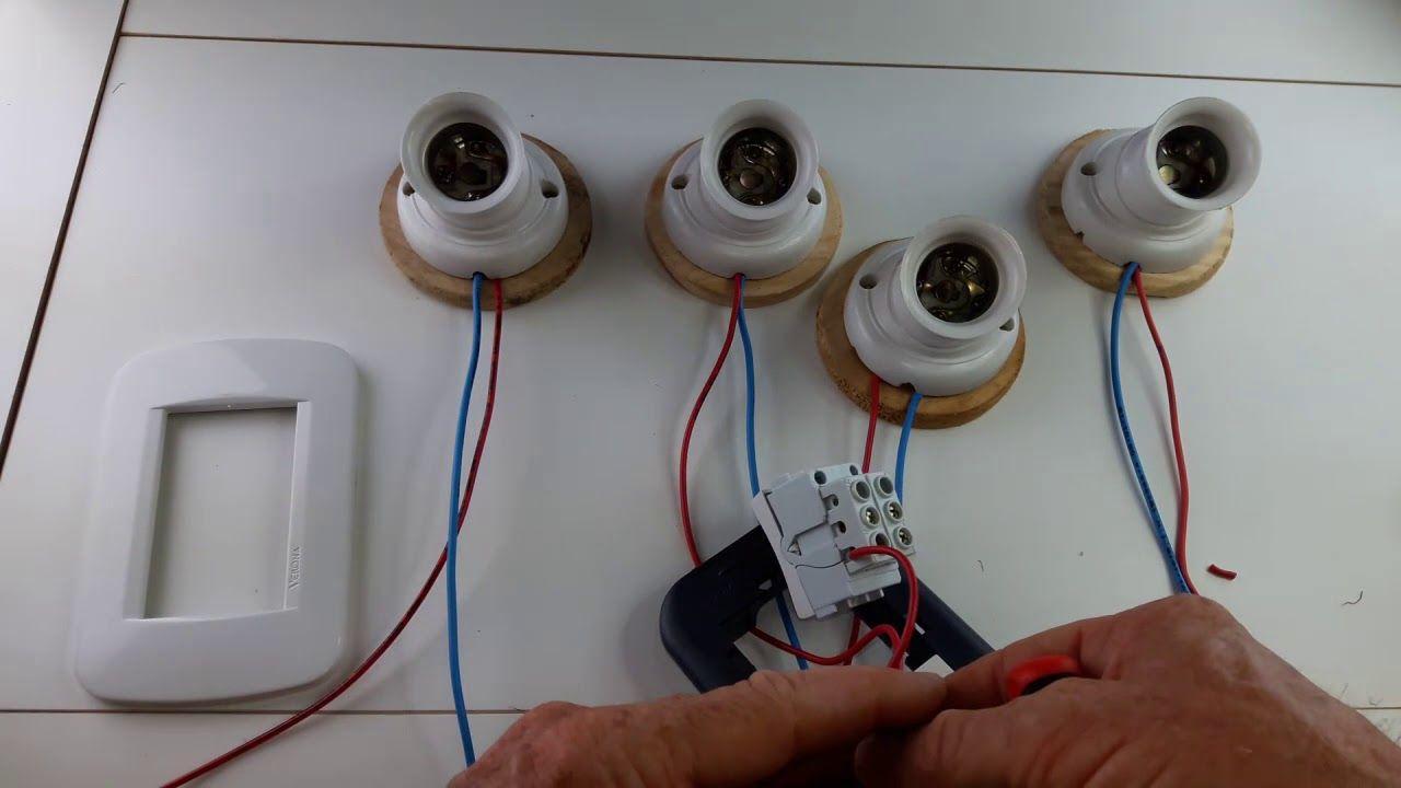 Como Conectar Cuatro Llaves De Luz Y Un Enchufe Conecciones Electricas Apagadores De Luz Interruptores De Luz