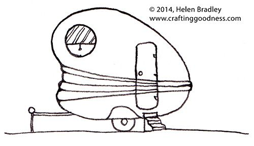 cute caravan drawing