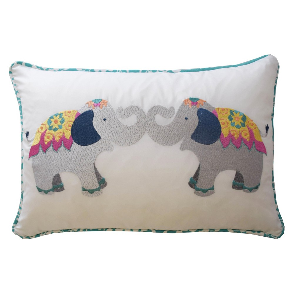 "Bollywood Elephant Throw Pillow (18""x18"") - Waverly Kids ..."