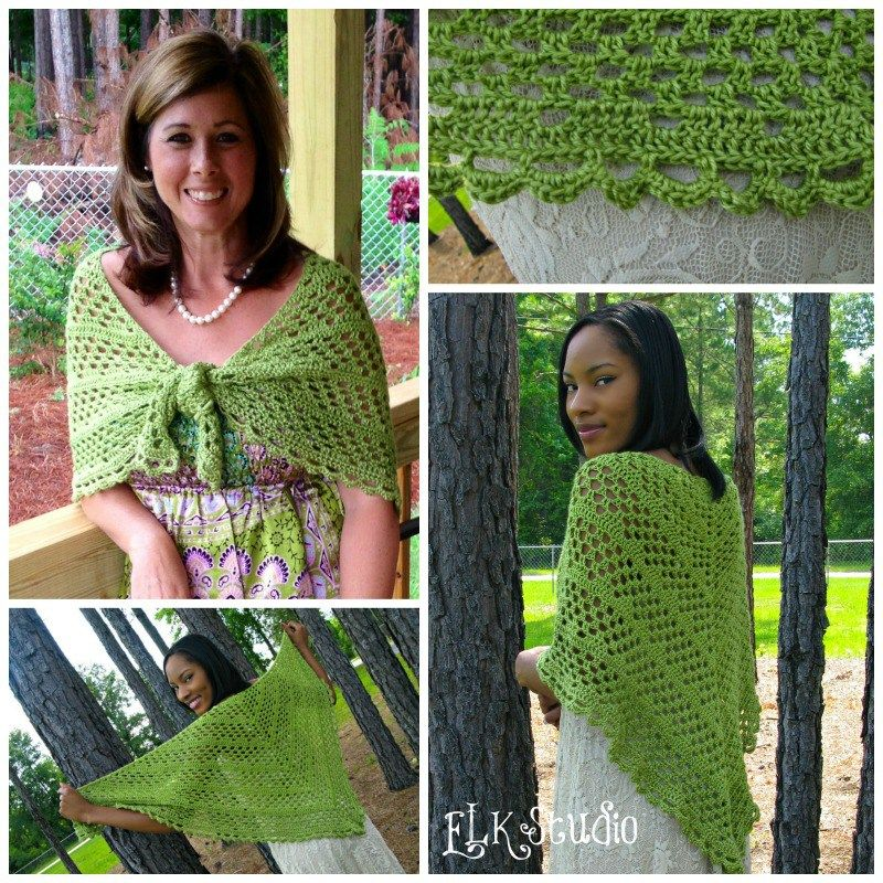 Dixie Charm - A Free Summer Crochet Shawl Pattern | Häkeln und ...