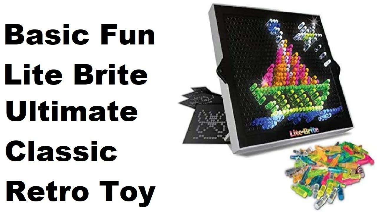 Basic Fun Lite-Brite Ultimate Classic Retro Toy Gift for Girls and Lite Brite