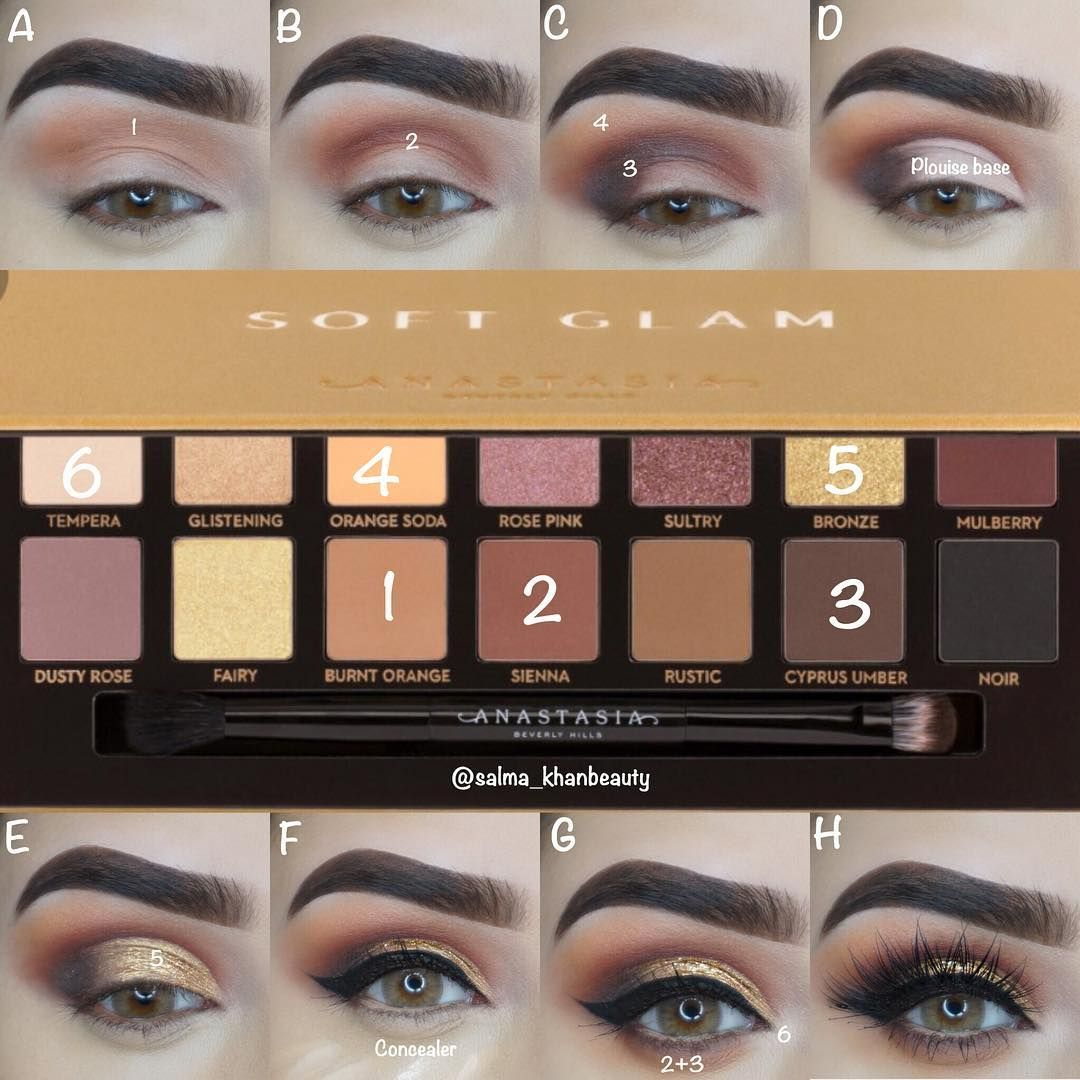 A New Step By Step Pictorial Using The Abh Soft Glam Palette